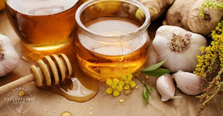 Infused Garlic Honey for Sore Throats   Annex Naturopathic Clinic   Naturopath Toronto